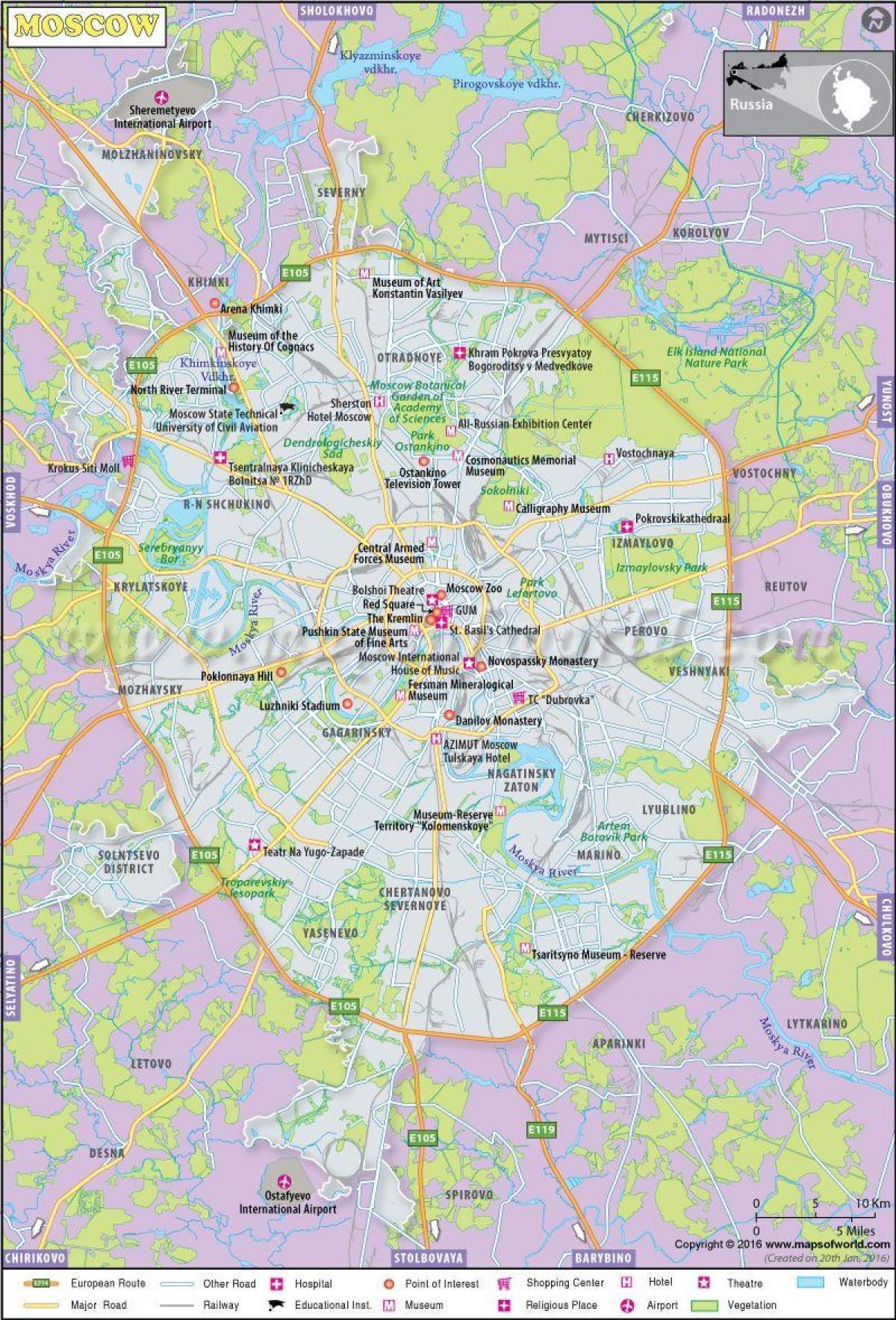 kart over moskva Moskva id kart   Kart over Moskva id (Russland) kart over moskva